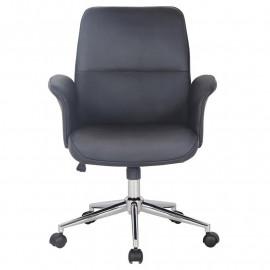 Chaise de bureau Noire Jary similicuir