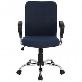 Chaise de bureau Yola pivotante bleu foncé