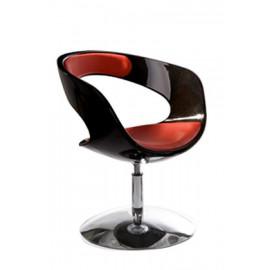 Fauteuil design KIRK Noir et Rouge