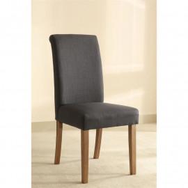 Chaise Dolo bois de hêtre massif rembourrée anthracite/noir
