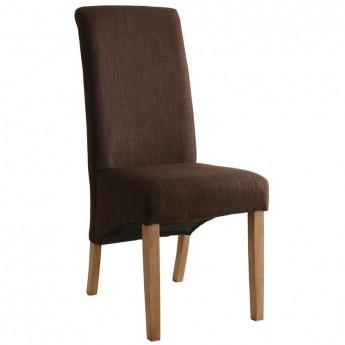 Chaise Cali bois de hêtre massif rembourrée marron foncé
