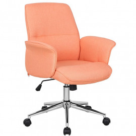 Chaise de bureau orange