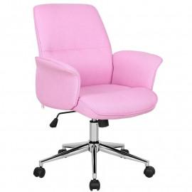 Chaise de bureau rose 0704M/3673