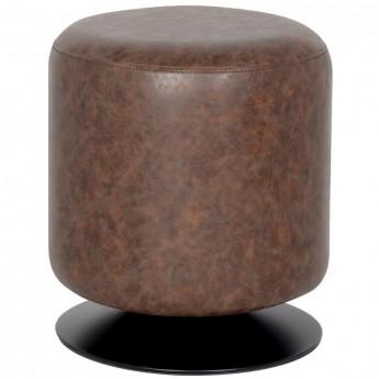 Pouf/Repose-pied rembourré brun M-60351/4053