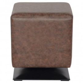 Pouf/Repose-pied rembourré brun M-61352/4056