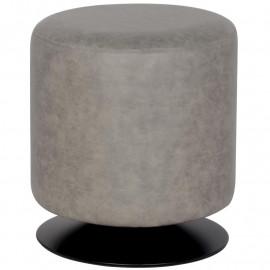 Pouf Repose-pied Bazile gris similicuir