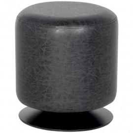 Pouf/Repose-pied rembourré noir M-60351/4052