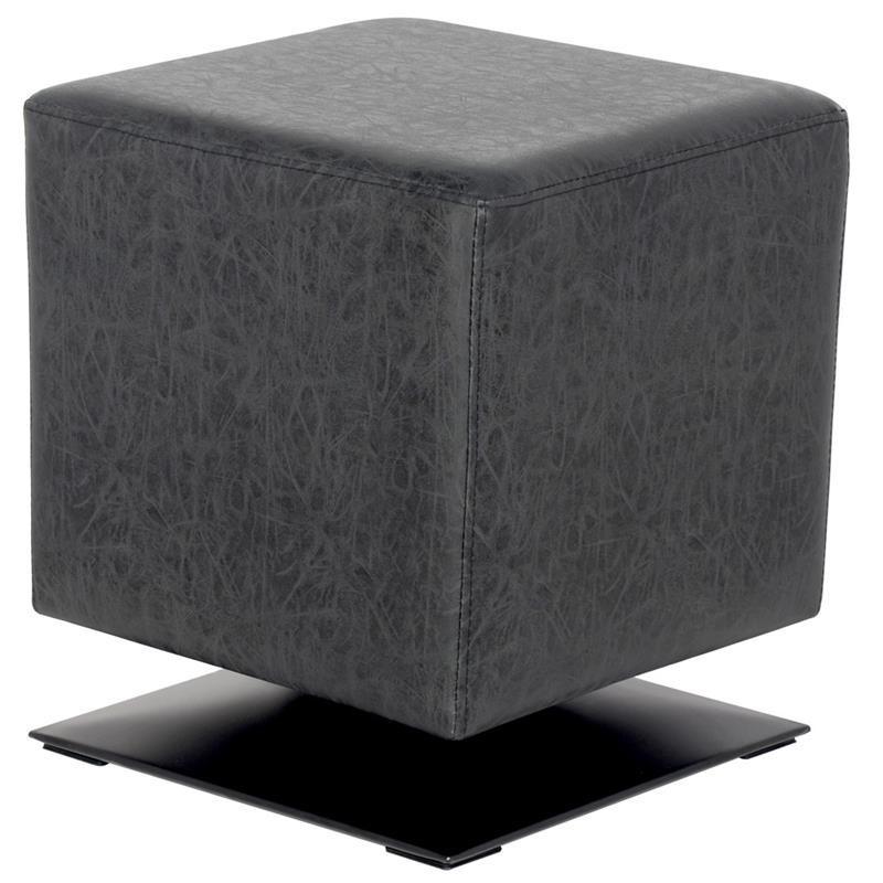 pouf repose pied carr bazile noir antrhacite. Black Bedroom Furniture Sets. Home Design Ideas