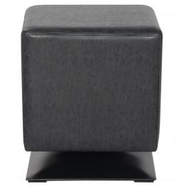Pouf/Repose-pied rembourré noir M-61352/4055