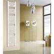 Radiateur sèche-serviettes largeur: 300 mm courbe blanc aux côtés / au milieu R20