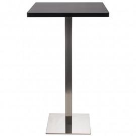 Table de Bar Table Bistro en MDF noir 60x60x105