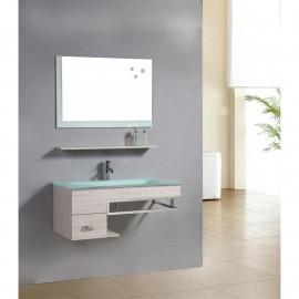 Ensemble meuble salle de bain Gabi en couleur chêne