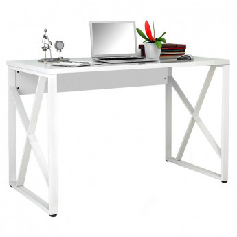 Bureau informatique Blanc brillant