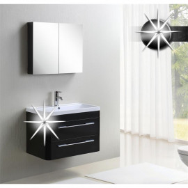 Meubles de salle de bain Briva Noir trés brillant