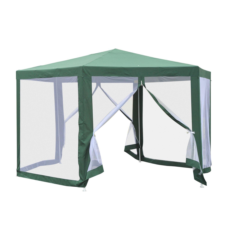 Tonnelle Tente de Réception hexagonale avec moustiquaires Forest ...