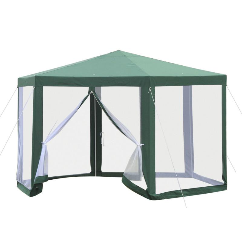 tonnelle tente de r ception hexagonale avec moustiquaires. Black Bedroom Furniture Sets. Home Design Ideas