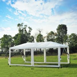 Chapiteau de réception hydrofuge et moustiquaires PARTY Blanc