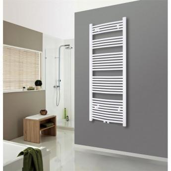 Radiateur sèche-serviettes largeur: 450 mm courbe blanc aux côtés / au milieu