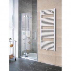 Radiateur sèche-serviettes largeur: 450 mm droit blanc aux côtés / au milieu