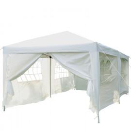 """Tonnelle Tente de Réception """"Pureté"""" en blanc immaculé"""