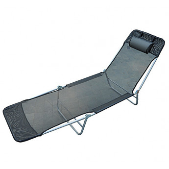 Chaise longue inclinable Trópico – Noir