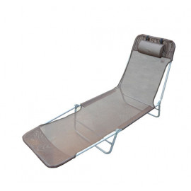 Chaise Longue pliante Beauty - Chocolat