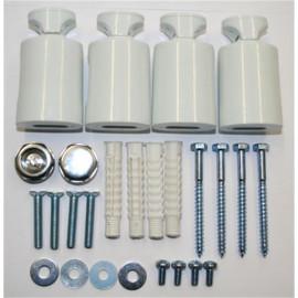 Radiateur sèche-serviettes largeur: 600 mm courbe blanc aux côtés / au milieu