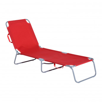 Chaise Longue Pliante Atlantar Rouge
