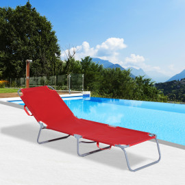 Chaise longue pliante Atlantar – Rouge