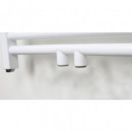 Radiateur sèche-serviettes largeur: 600 mm droit blanc aux côtés / au milieu