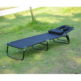 Chaise longue pliante de jardin SUN - noir