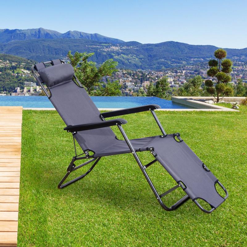 chaise longue de jardin mexico grey. Black Bedroom Furniture Sets. Home Design Ideas