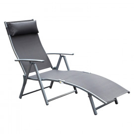 Chaise longue Miami gris anthracite
