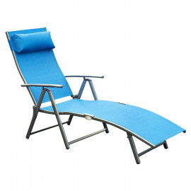 Transat Alice inclinable bleu