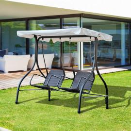 Balancelle de jardin RELAX brun