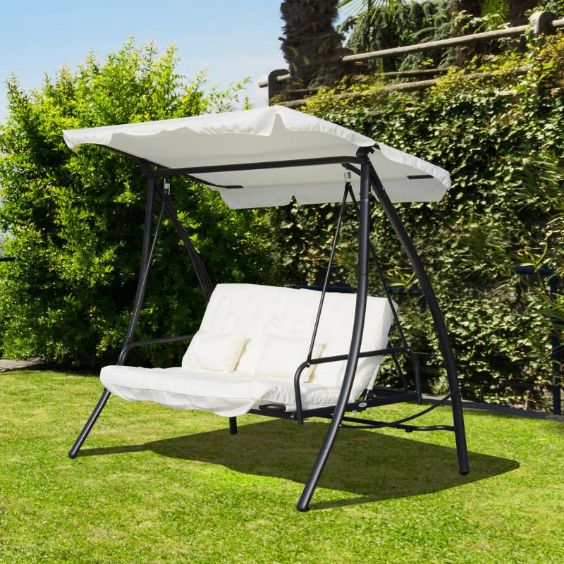 balancelle de jardin rocksummer blanc. Black Bedroom Furniture Sets. Home Design Ideas