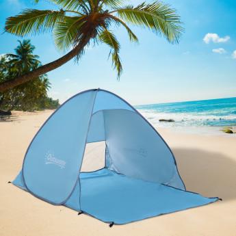 Abris de plage anti-uv et portable bleu BEACHY