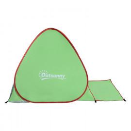 Tente et abri de plage portable Vert BEACHY