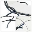 Chaise longue suspendue avec toit d'ombrage MALIBU