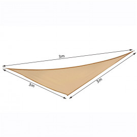 Voile d'Ombrage Triangulaire MYPARTY Sable