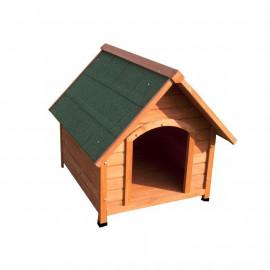 Niche pour chien avec toit en bois massif