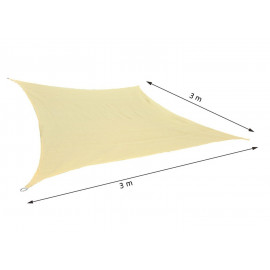 Voile d'Ombrage 3 x 3m BOT Sable