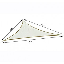 Voile d'ombrage triangulaire 6x6x6m TRISAND Crème