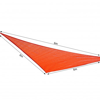 Voile d'ombrage triangulaire POINTU rouge