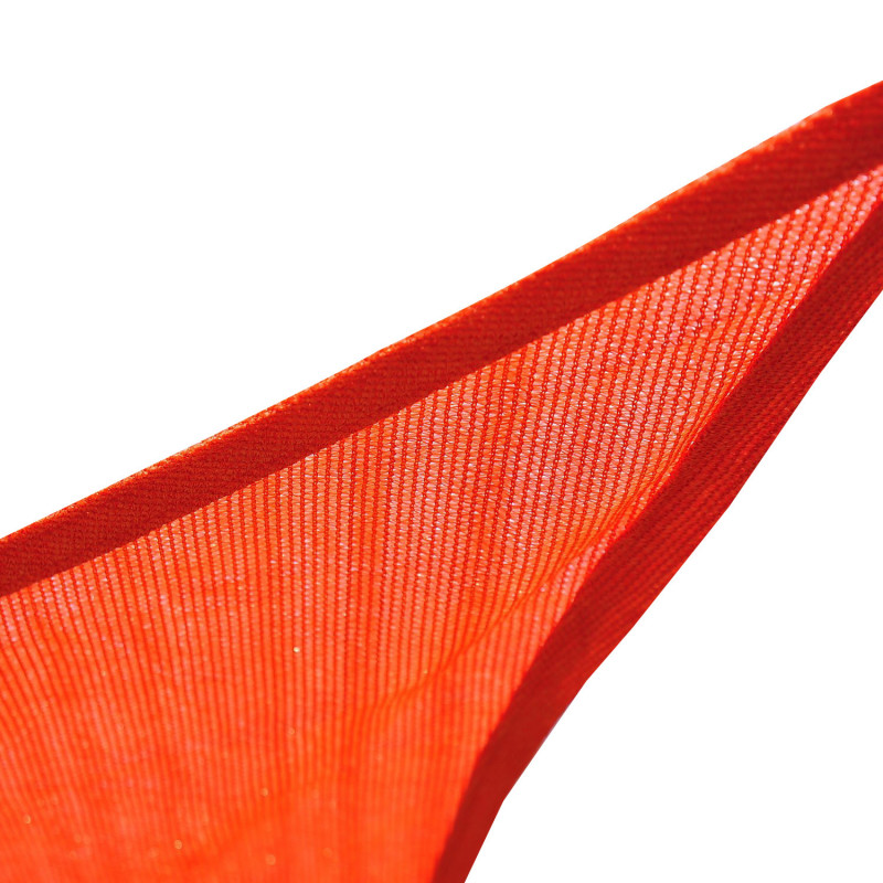 Voile d\'ombrage triangulaire POINTU rouge