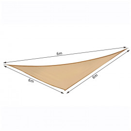 Voile d'ombrage solaire triangulaire