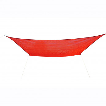 Voile d'Ombrage 3 x 4m SUNPROTECT Rouge