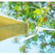Voile d'ombrage rectangulaire ATHENAÏS couleur crème