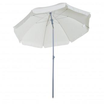 Parasol inclinable de plage SUNBE crème