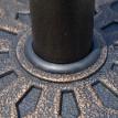 Pied de parasol rond Empire State Building bronze et noir